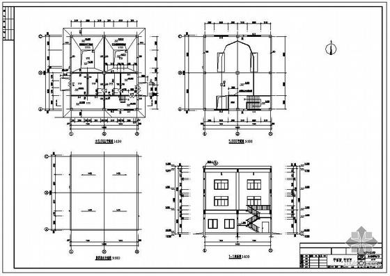 青海某两层框架混凝土厂房建筑结构设计图