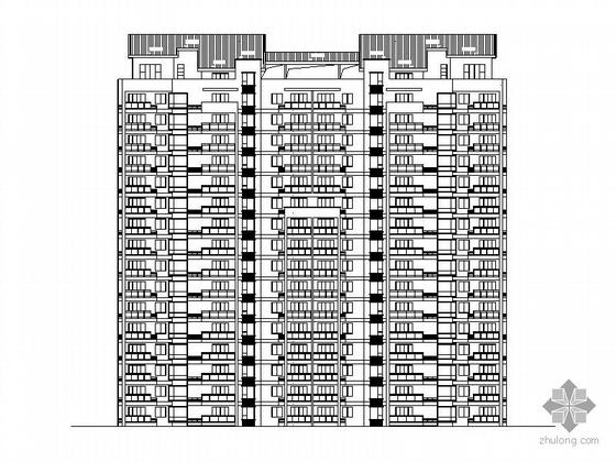 [温州]某拆迁安置项目6#十六层塔式住宅楼建筑施工图(一梯三户、顶层复式)