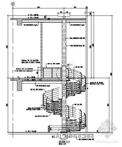 国外某钢螺旋楼梯施工图