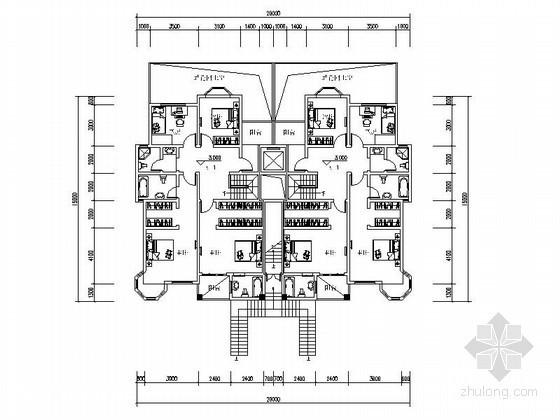 某二十四层花园洋房户型平面图