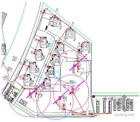 天津某住宅区临电临水施工方案(系统图 平面图)