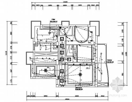 一套家装电路设计图