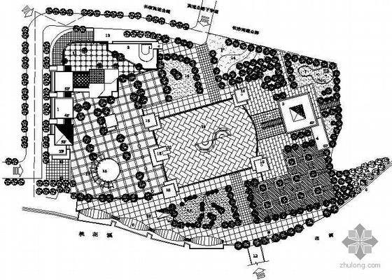 某文化艺术中心广场景观设计平面图
