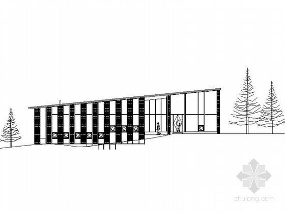 长城脚下公社某森林小屋建筑方案图