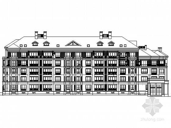 [郑州]某五层欧式花园洋房建筑施工图