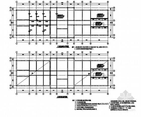 某3层(局部4层)砖混办公楼加层加固施工图