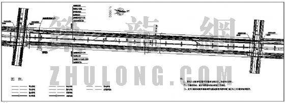 山东某市市政道路管线综合图