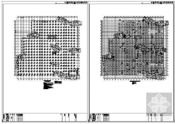 某地下人防车库结构设计施工图