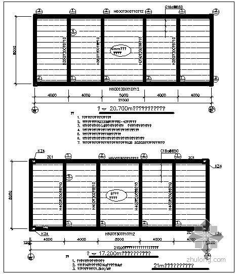 某21m钢结构连廊节点构造详图(一)