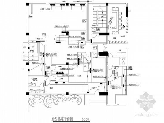 住宅楼厨房电气系统图