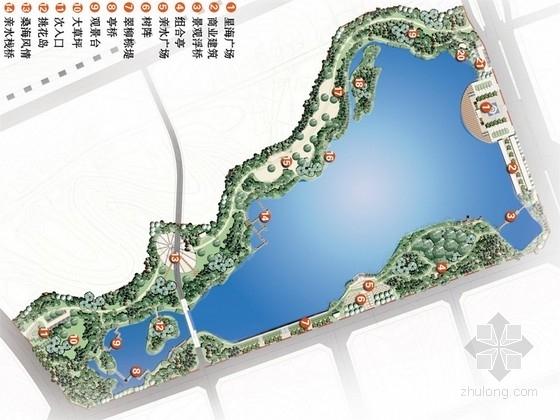 [江西]山水园林式城市滨水湿地公园景观规划设计方案(方案2套)