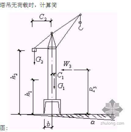 浙江某教学楼塔吊施工方案(天然基础 计算书)