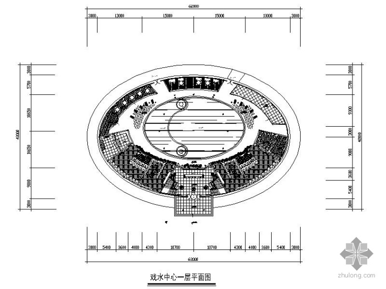 3500㎡某别墅娱乐戏水中心设计图(含效果)