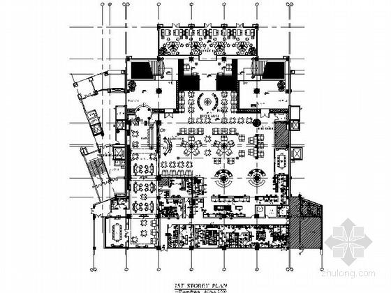 [上海]某五星级豪华酒店自助餐厅及西餐厅室内装修施工图(含效果)