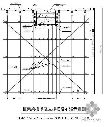 深圳某住宅项目高支模施工方案(扣件式 满堂脚手架 计算书)