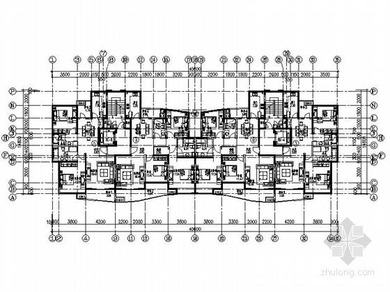 某小高层板式住宅户型图(120、140平方米)