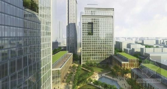 滨河现代风格城市空间规划效果图