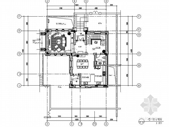[杭州]伊斯兰风格三层别墅室内装修施工图(含实景)