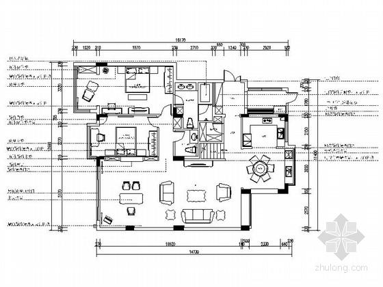 [江苏]两层欧式风格别墅室内装修施工图(含实景图)