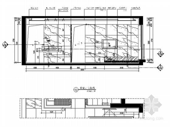 [浙江]理性黑白灰三居室室内CAD施工图(含实景图)-理性黑白灰三居室室内CAD施工图(含实景图)立面图