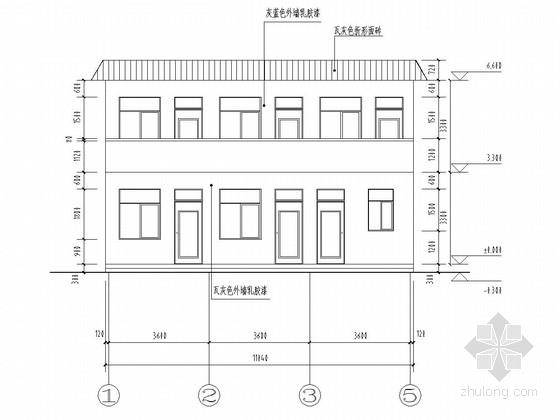 两层砖混结构办公楼结构施工图(含建筑图)