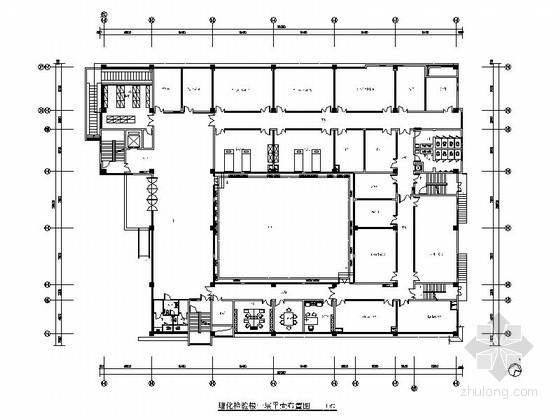 [江苏]省级产品质量检验事业单位现代检验楼装修施工图(含效果)
