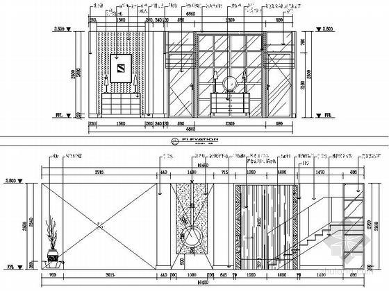 [苏州]水岸社区典雅新中式三层别墅装修施工图立面图