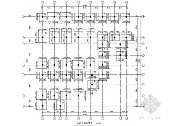 [深圳]四层框架结构甲级医院结构施工图(含建施)