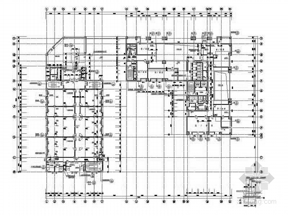[深圳]25层现代风格办公大厦建筑设计施工图(知名设计院含效果图)-25层现代风格办公大厦建筑设计平面图