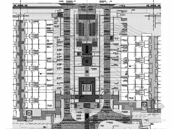 别墅区入口区铺装总平面施工图