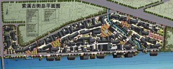 传统民居住宅区规划设计总平面图