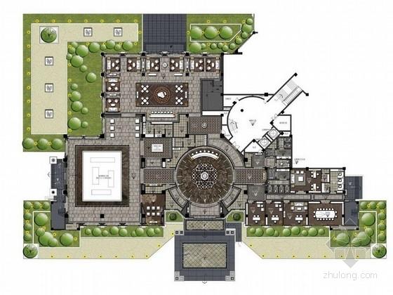 [成都]某自然新城現代售樓中心設計方案圖