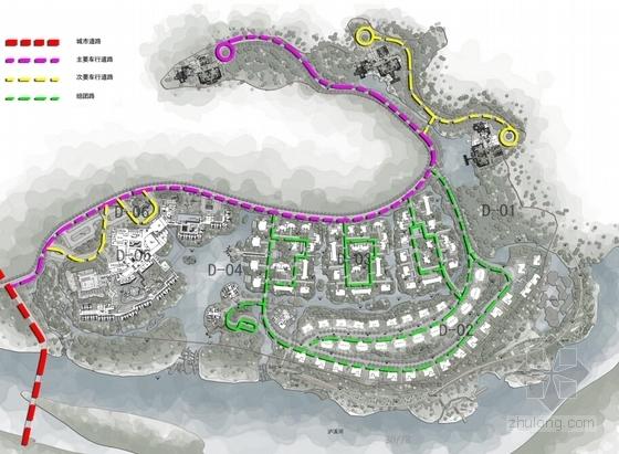 [江西]新中式风格道教养生休闲度假基地规划设计方案文本-新中式风格道教养生休闲度假基地分析图