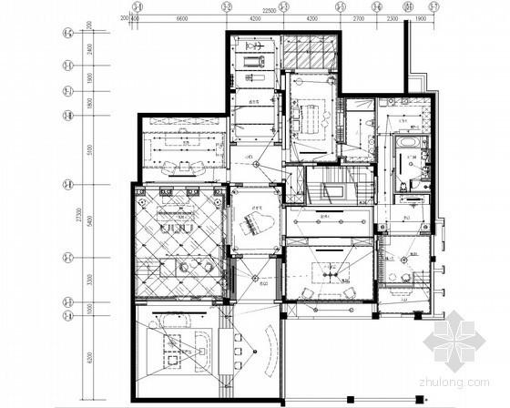 [天津]二层别墅建筑装修电气施工图纸