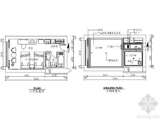 标准客房平面图