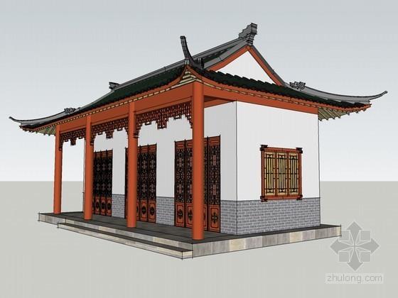 中式住宅SketchUp模型下载
