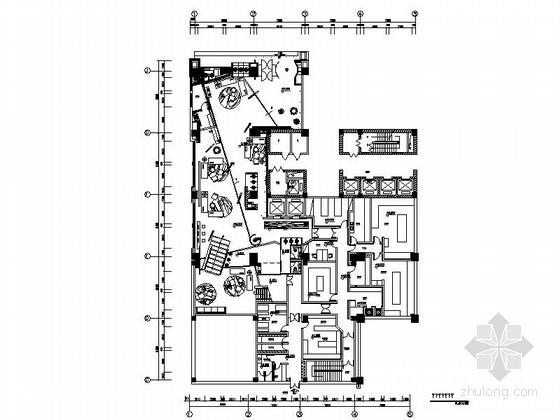 [石家庄]大型企业集团旗下高档现代KTV室内设计施工图(含效果图)