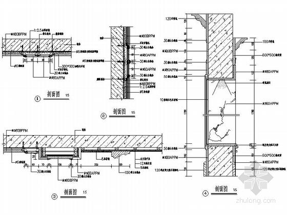 [深圳]195平经典豪华欧式五居室样板间装修设计施工图大样图