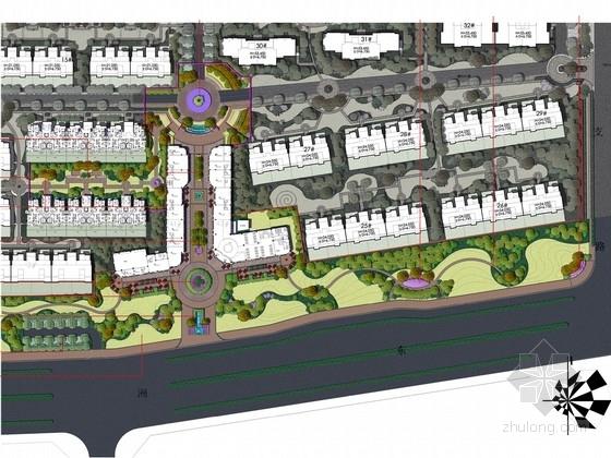 [扬州]新中式风格居住区景观规划设计方案