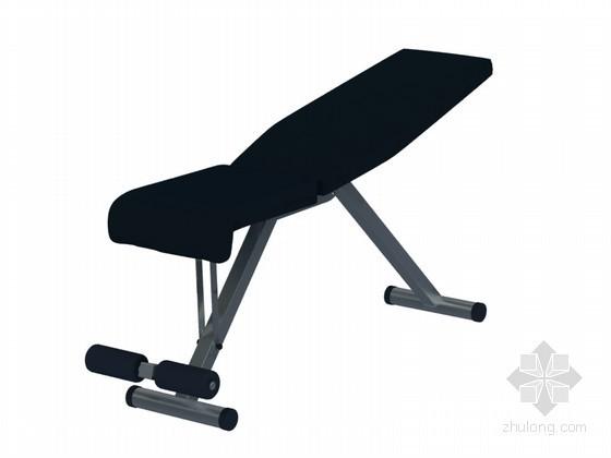 穿孔板铝板贴图资料下载-仰卧起坐板3D模型下载