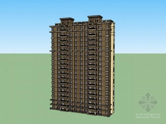 高层住宅楼sketchup模型下载