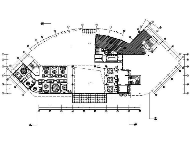 [浙江]温州五星级豪华酒店中餐厅施工图(附效果图)