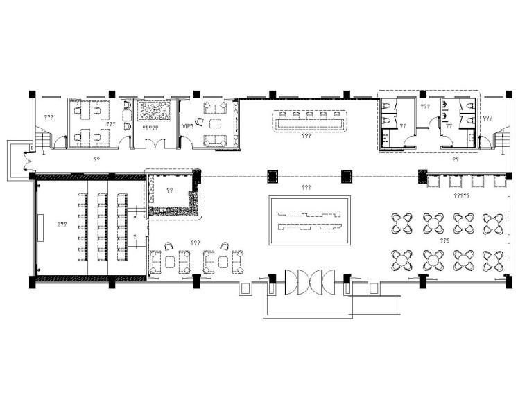 [漳州]后现代风格售楼处全套装修施工图及效果图