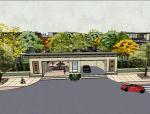 明州水院别墅居住区小区景观SU模型设计(新中式风格)