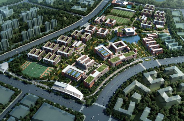 [广东]交通运输职业学校第四标段建筑设计方案文本