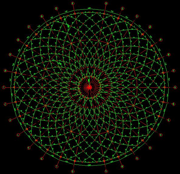 全套网架檩条平面施工图_3