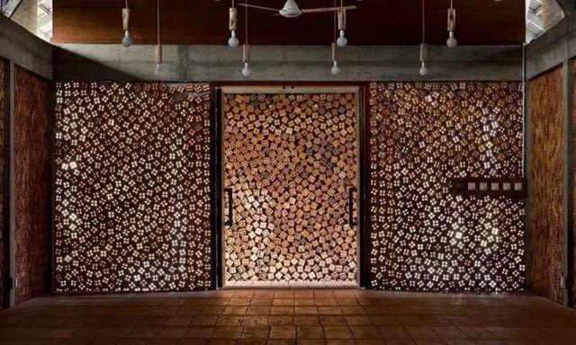 砖的艺术,看看如何把砖赋予艺术性的用在建筑上?_11