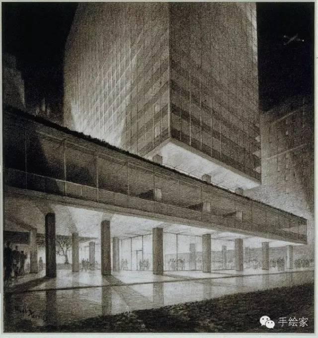 百年经典建筑设计手绘图_48