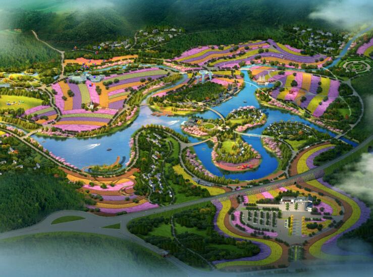 [贵州]绥阳洛安江花屿映象景观规划设计方案(田园、浪漫)