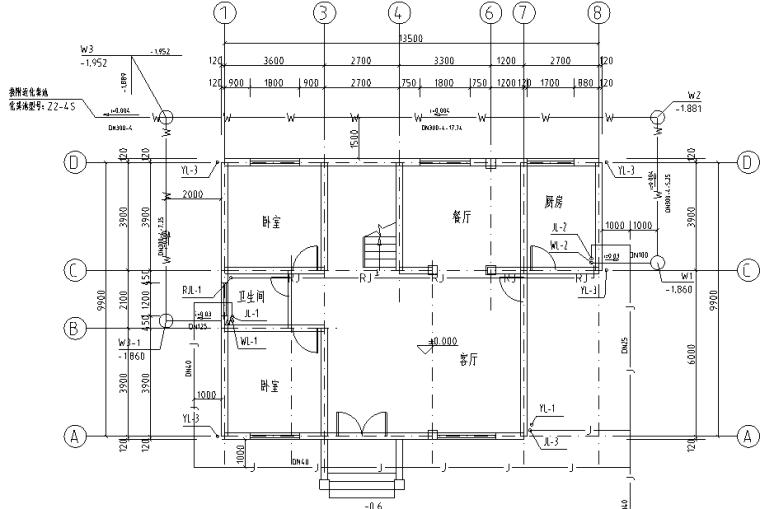 某私人别墅给水排水施工图